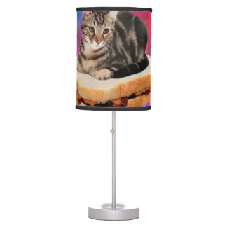 bread cat  - space cat - cats in space table lamp
