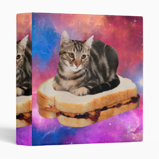 bread cat  - space cat - cats in space vinyl binder