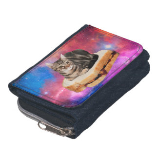 bread cat  - space cat - cats in space wallet