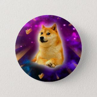 bread  - doge - shibe - space - wow doge 2 inch round button