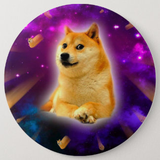 bread  - doge - shibe - space - wow doge 6 inch round button