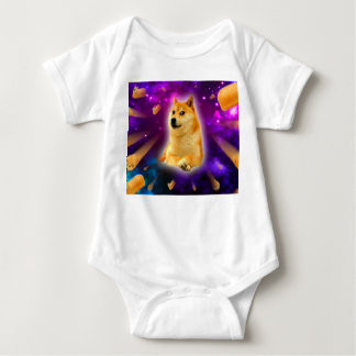 bread  - doge - shibe - space - wow doge baby bodysuit