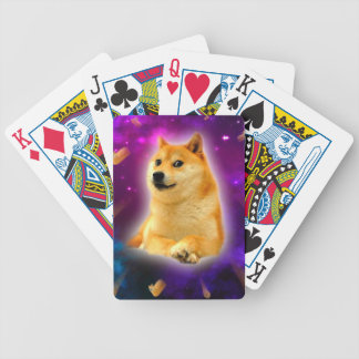 bread  - doge - shibe - space - wow doge bicycle playing cards