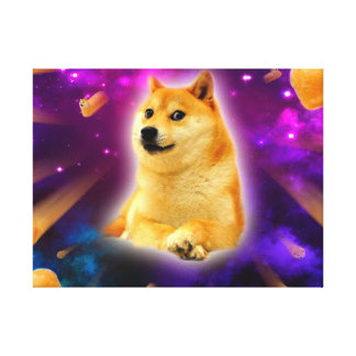 bread  - doge - shibe - space - wow doge canvas print