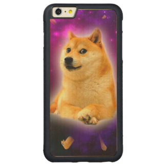 bread  - doge - shibe - space - wow doge carved maple iPhone 6 plus bumper case