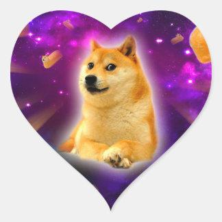 bread  - doge - shibe - space - wow doge heart sticker