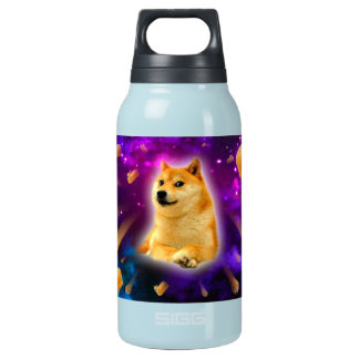 bread  - doge - shibe - space - wow doge insulated water bottle