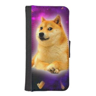 bread  - doge - shibe - space - wow doge iPhone SE/5/5s wallet case