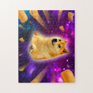 bread  - doge - shibe - space - wow doge jigsaw puzzle