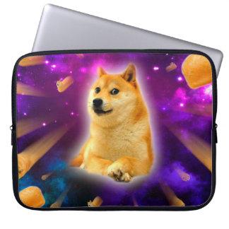 bread  - doge - shibe - space - wow doge laptop sleeve