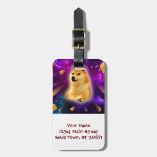 bread  - doge - shibe - space - wow doge luggage tag