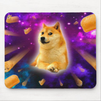 bread  - doge - shibe - space - wow doge mouse pad