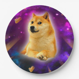 bread  - doge - shibe - space - wow doge paper plate