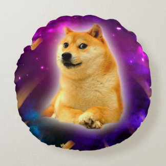 bread  - doge - shibe - space - wow doge round pillow