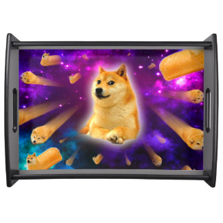 bread  - doge - shibe - space - wow doge serving tray