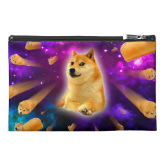bread  - doge - shibe - space - wow doge travel accessory bag