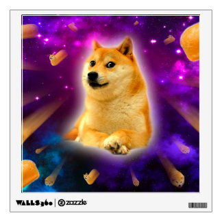 bread  - doge - shibe - space - wow doge wall decal