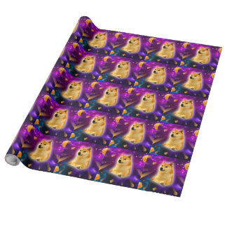 bread  - doge - shibe - space - wow doge wrapping paper