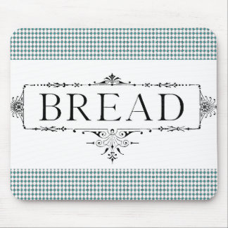 Bread-Farmhouse-Vintage-Art-Teal-Diamond's Mouse Pad