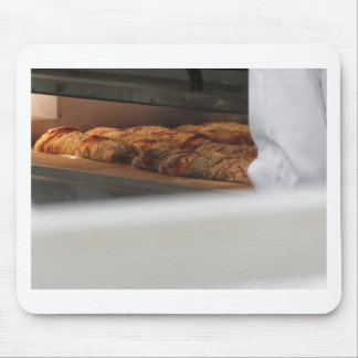 Bread freshly made into the oven mouse pad