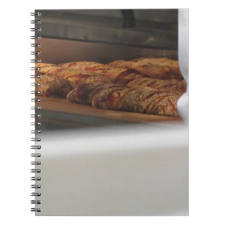 Bread freshly made into the oven notebook