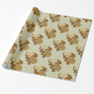 Bread Loaves and Rolls Drawing Wrapping Paper
