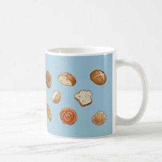 Bread & pastry pattern mug - customizable