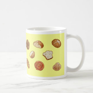 Bread & pastry pattern mug - yellow