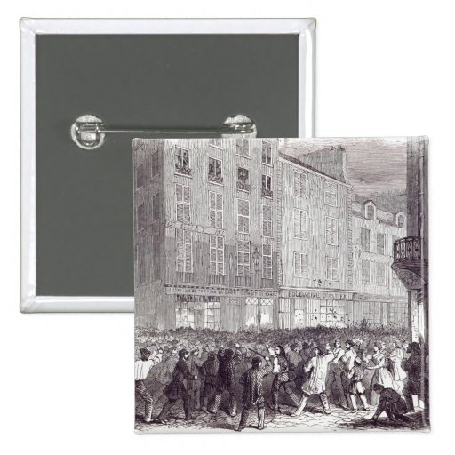 Bread Riot, in the Rue du Faubourg St. Antoine Pinback Button