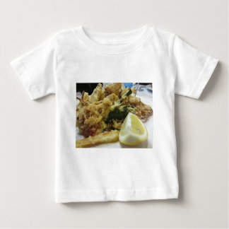 Breaded and fried crunchy vegetables with lemon baby T-Shirt