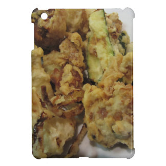 Breaded and fried crunchy vegetables with lemon cover for the iPad mini