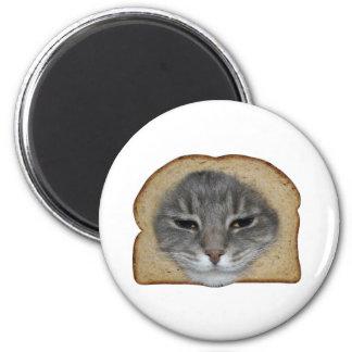 Breaded Cat Refrigerator Magnet
