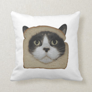 Breaded Inbread Cat Breading Throw Pillow
