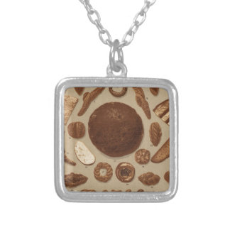 Breads and Pretzels of Prague Silver Plated Necklace