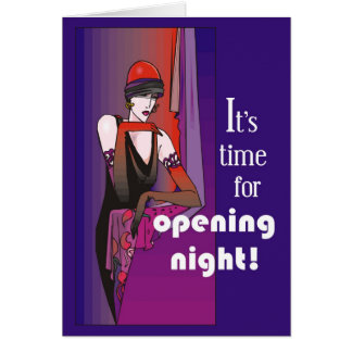 Break a Leg on Opening Night, Flapper Card