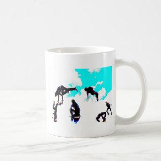 Break dance classic white coffee mug