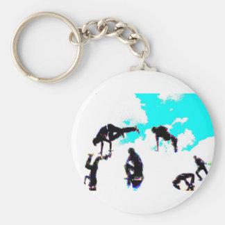Break dance key chain