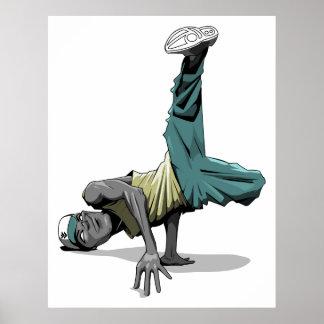 break dance pose poster