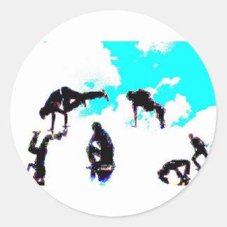 Break dance round sticker