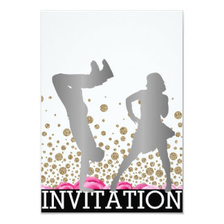 Break Dance School  Dico Hip Hop Vip Rose Gray Card