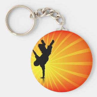 Break Dancing Basic Round Button Keychain
