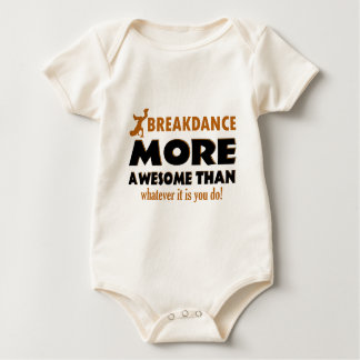 Break dancing designs baby bodysuits