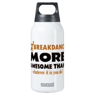 Break dancing designs 10 oz insulated SIGG thermos water bottle