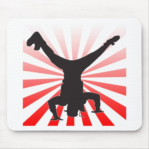 break dancing explosion mouse pads