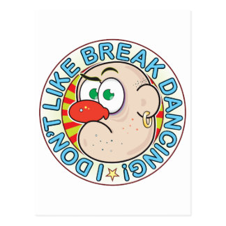 Break Dancing Grumpy Postcard