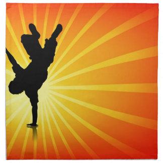 Break Dancing Printed Napkins