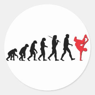 Break Dancing Round Sticker