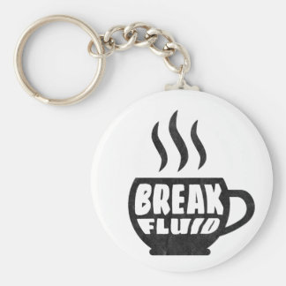 Break Fluid Grunge Graphic Coffee Keychain Design