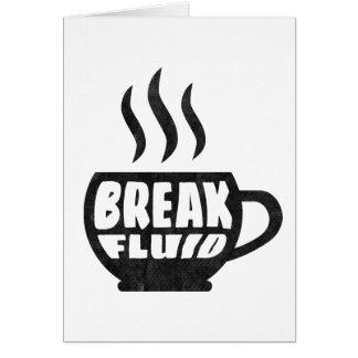 Break Fluid Grunge Graphic Coffee Notecard Design