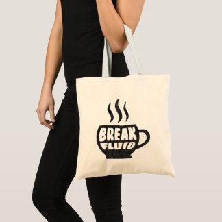 Break Fluid Grunge Graphic Coffee Tote Bag Design